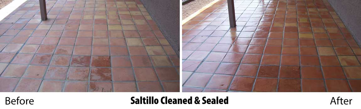 natural stone tile floor sealing