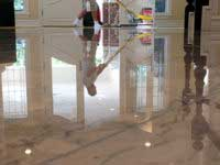 clean and polish natural stone floors in palm springs